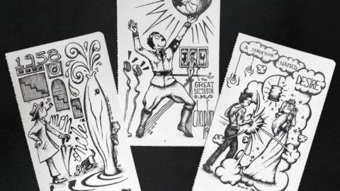 So Nieuf rend hommage au cinéma dans des dessins en noir et blanc