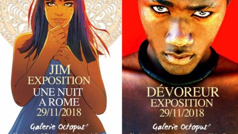 Jim et Hubert Touzot, exposition croisée à la galerie Octopus